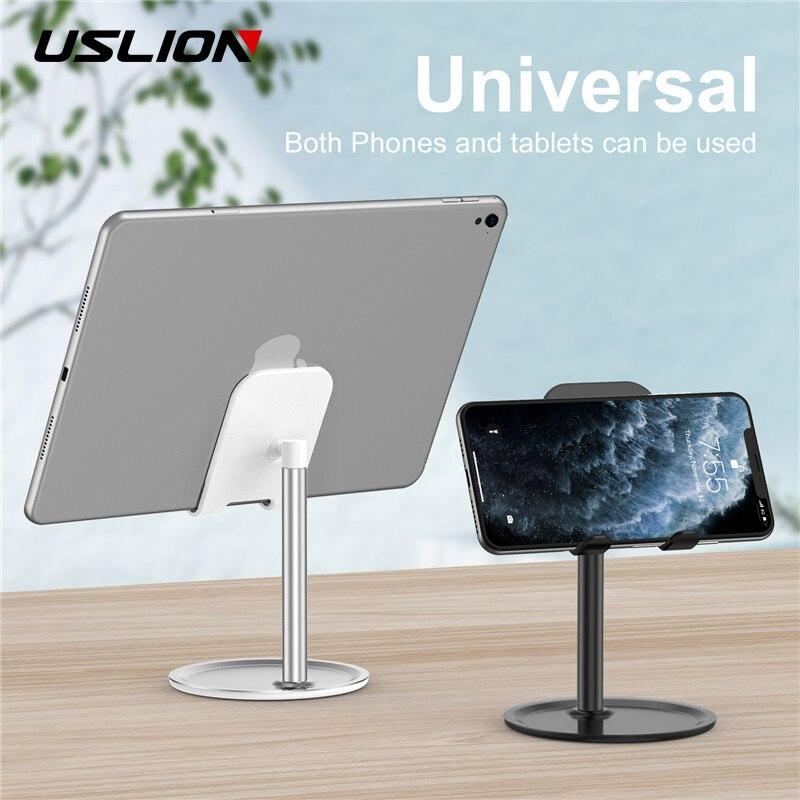USLION Universal Desktop Tablet Phone Holder For iPhone 11 iPad Samsung Desktop Tablet Table Stand Cell Mobile Phone Stand Mount