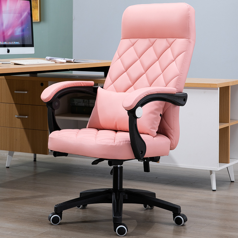 Computer Chair Home Office Chair Boss Chair Lift Backrest Swivel Chair Reclining Study Conference Chair Leather Chair