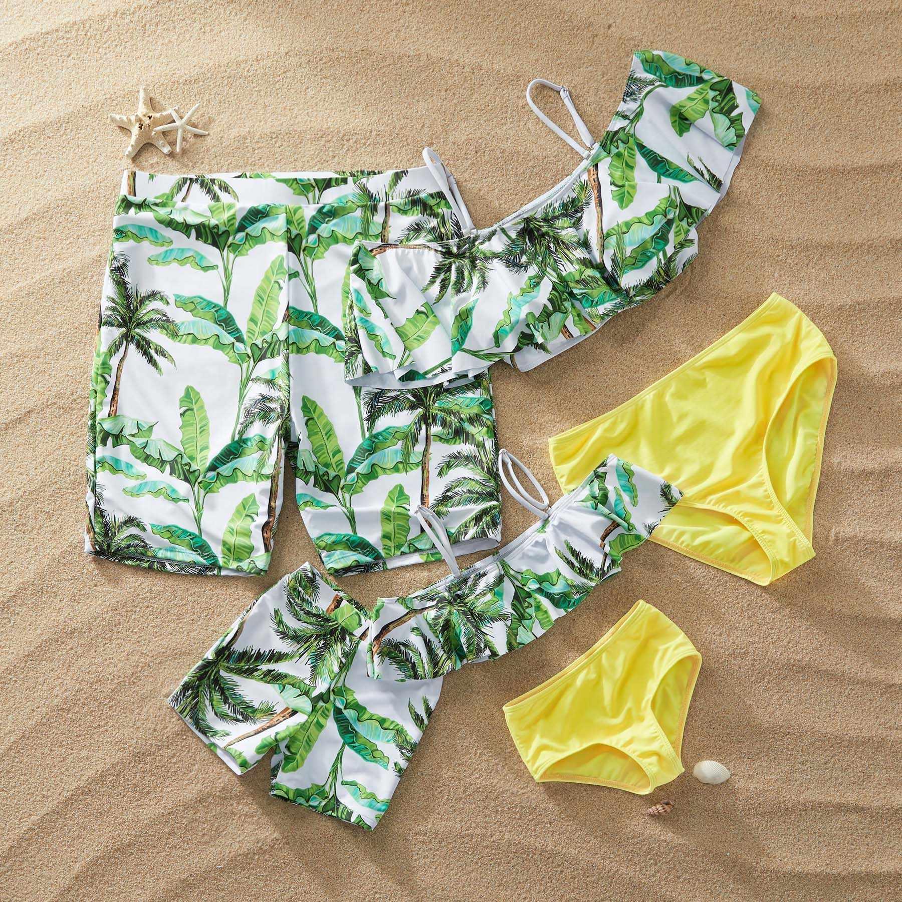 PatPat/Новинка 2020 года; Летний купальный костюм для всей семьи в наличии; Распродажа