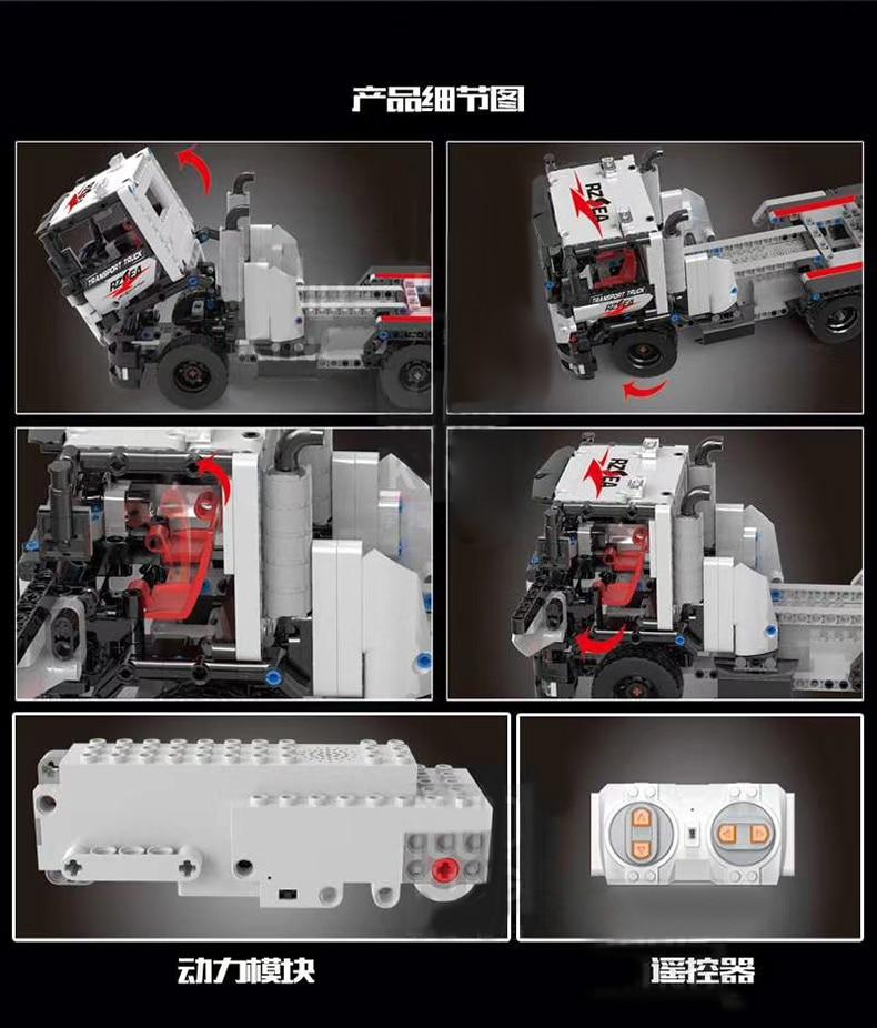 MOULD KING 15005 Technic The Construction remote control truck Building Block  (532PCS) 3