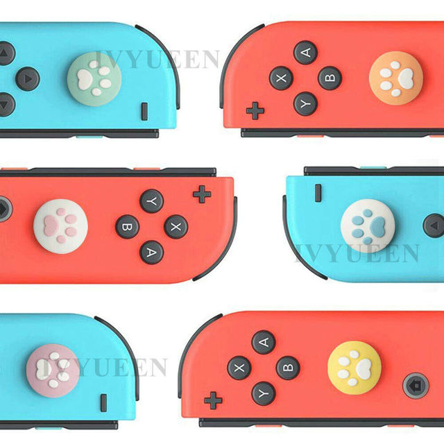 IVYUEEN 2 Pcs Silicone Caps for Nintend Switch Joy Con Paw Claw Joystick Analog Stick Thumb Grips Cover for NintendoSwitch Lite 3