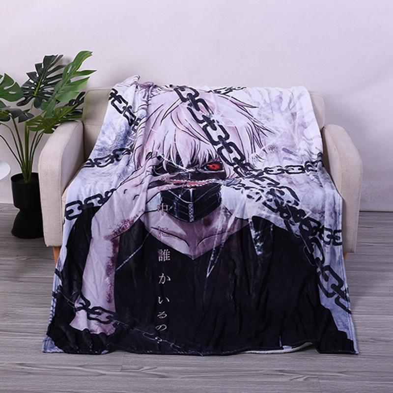 Anime Tokyo Ghoul Ken Kaneki Blanket Mat Bath Towel Nap Travel Home Sleep Bedroom Picnic Blanket Child Kids Gifts Cospaly