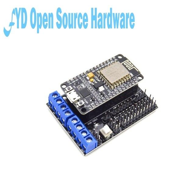 1pcs L293D Motor Shield Bordo Senza Fili Wifi Esp8266 Esp-12E Nodo MCU bordo di Sviluppo di Kit NodeMCU Rc Giocattolo di Controllo Remoto IoT smart Car