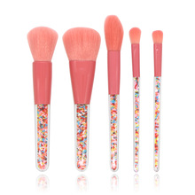 цены на 5pcs Makeup Brushes Set For Foundation Powder Blush Eyeshadow Concealer Lip Eye Make Up Brush Cosmetics Beauty Tools  в интернет-магазинах