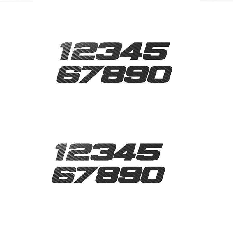 Motorfiets Sticker Telefoon Nummer 1234567890 Reflecterende Auto Stickers Moto Auto Decal Funny Jdm Vinyl Op Auto Styling 15.5 Cm * 5.4 Cm