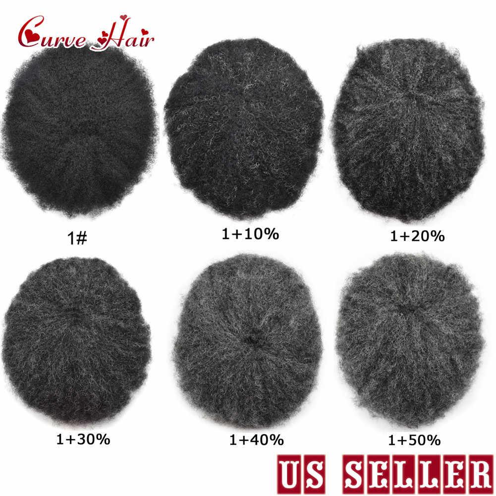 Afro Toupet Für Schwarze Männer Afro Verworrene Lockige Perücke Französisch spitze African American Haar System Dünne Haut Afro Wellig Männer einheit