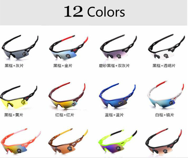 Unisex  Men Cycling Eyewear Sunglasses UV400 Sun Glasses PC Material Women Outdoor Sports Driving Camping Hiking