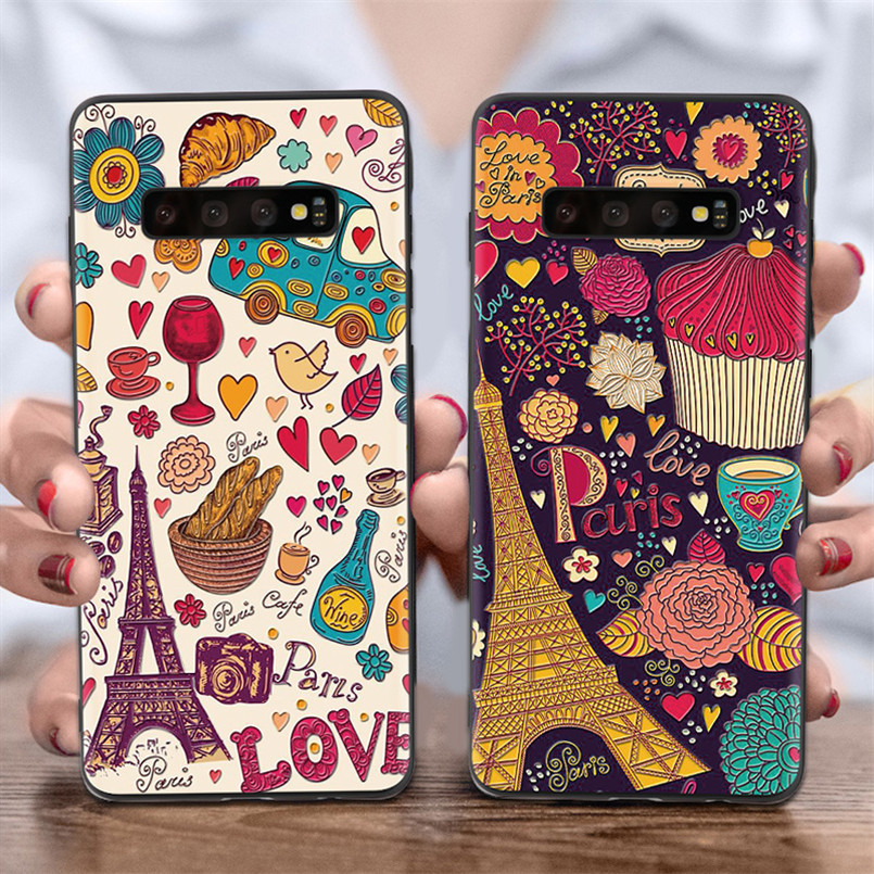 3D Tower Cute Cat Emboss Cover For <font><b>Samsung</b></font> Galaxy J3 J5 J2 J7 Prime A3 A5 <font><b>2016</b></font> 2017 J4 J6 A6 A8 Plus J8 A7 <font><b>A9</b></font> 2018 Silicone Case image