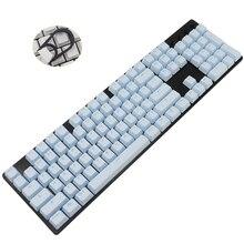 Chaves altas do oem 87 104 dos keycaps de pbt para o keycap dobro translúcido do tiro do teclado mecânico