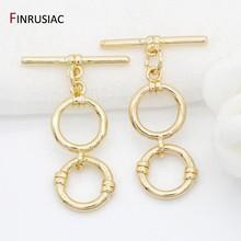14k ouro chapeado toggle fechos ganchos para pulseiras colar que faz jóias suprimentos 2021 novo design ot fechos acessórios