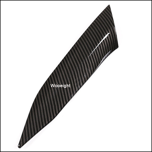 Image 5 - Wooeight 2Pcs Carbon Fiber Car Interior Central Control Side Sticker Decoration Trim Fit For BMW 3 Series 2020