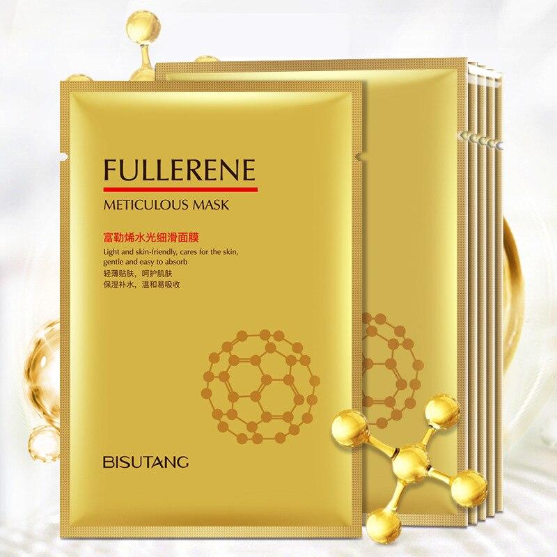 Moisture Skin Food Fullerene Collagen Face Mask Facial White Whitening  Korean Hyaluronic Acid Masque Cosmetics Beauty Masks