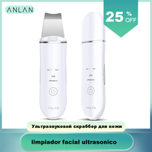 ANLAN Ultrasonic Skin Scrubber Face Cleanser Blackhead Acne Removal Facial Spa Vibration Massager Ultrasound Water Peeling