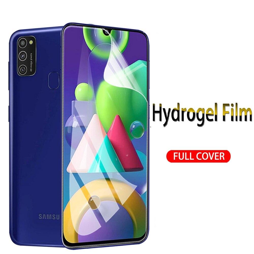 Гидрогелевая пленка для Samsung galaxy M21 M11 M10 M01 J4 Plus, Защитная пленка для Samsung J6 Plus M51 M31 M30S, не стекло