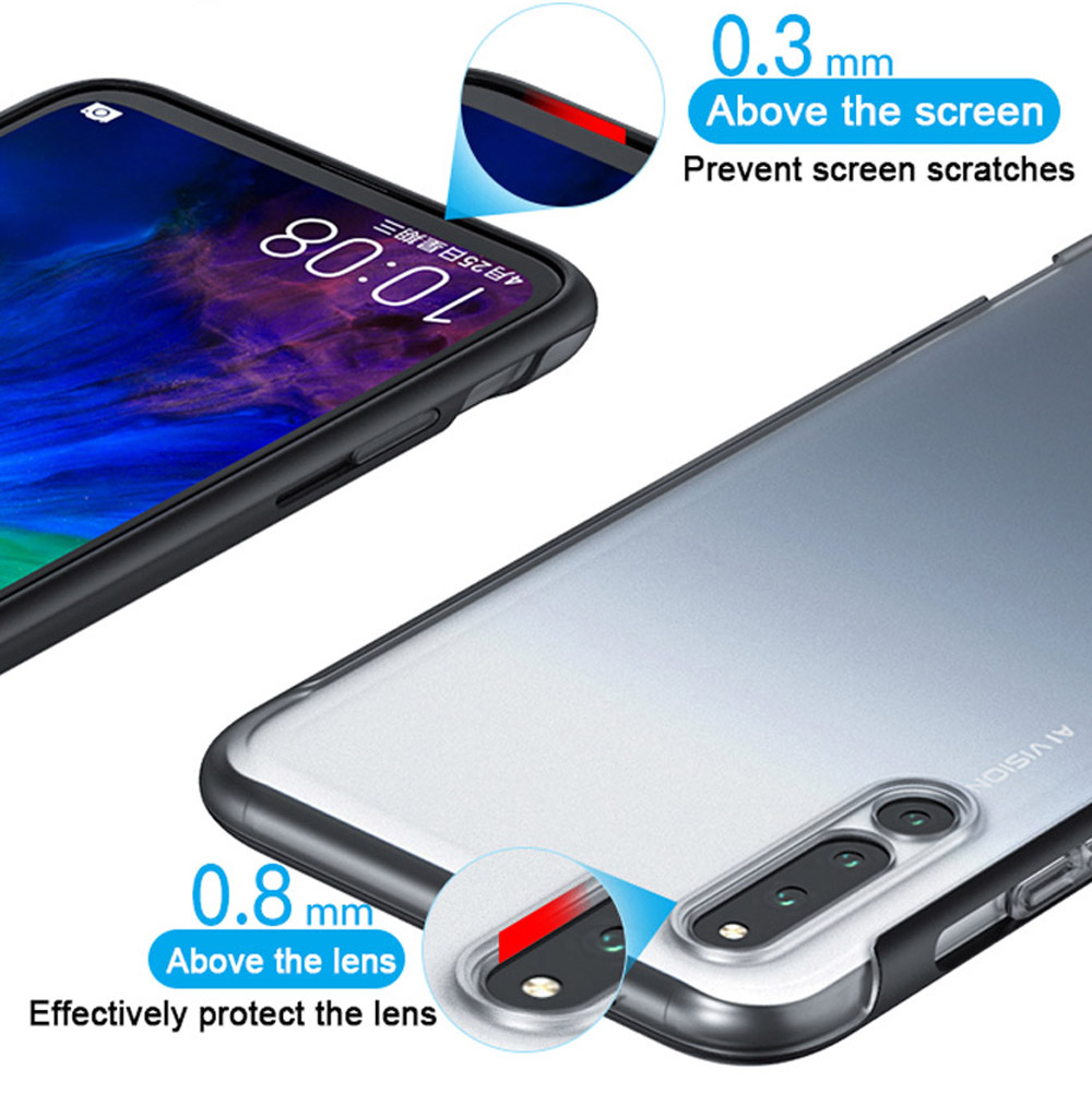 GKK 2 IN 1 Fitted Cover Case For Samsung A70 A20 A60 A50 A30 A10 M20 M10 M30 Note 10 9 S8 S9 S10 PLUS Frosted Transparent Case in Fitted Cases from Cellphones Telecommunications