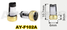 Gratis Verzending 500 Picese Micro Mand Brandstof Injector Filter Voor Ford Auto ASNU003 (10.7*6*3 Mm, AY F102A)
