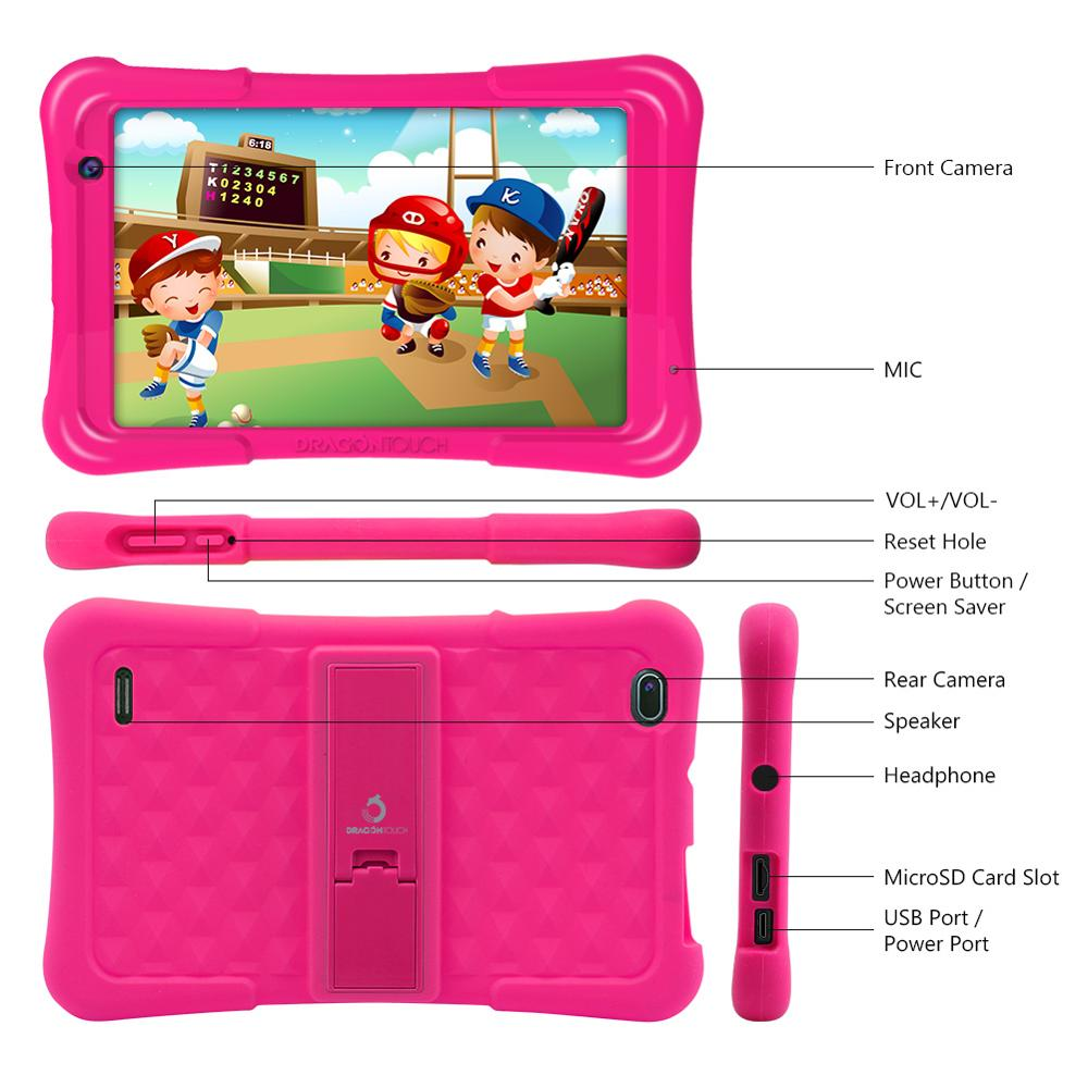 2019 Dragon Touch Y80 Kids Tablet 8 inch HD Display Android Tablet for Children 16GB Quad core 1.5GHz USB Android 8.1 tablet PC