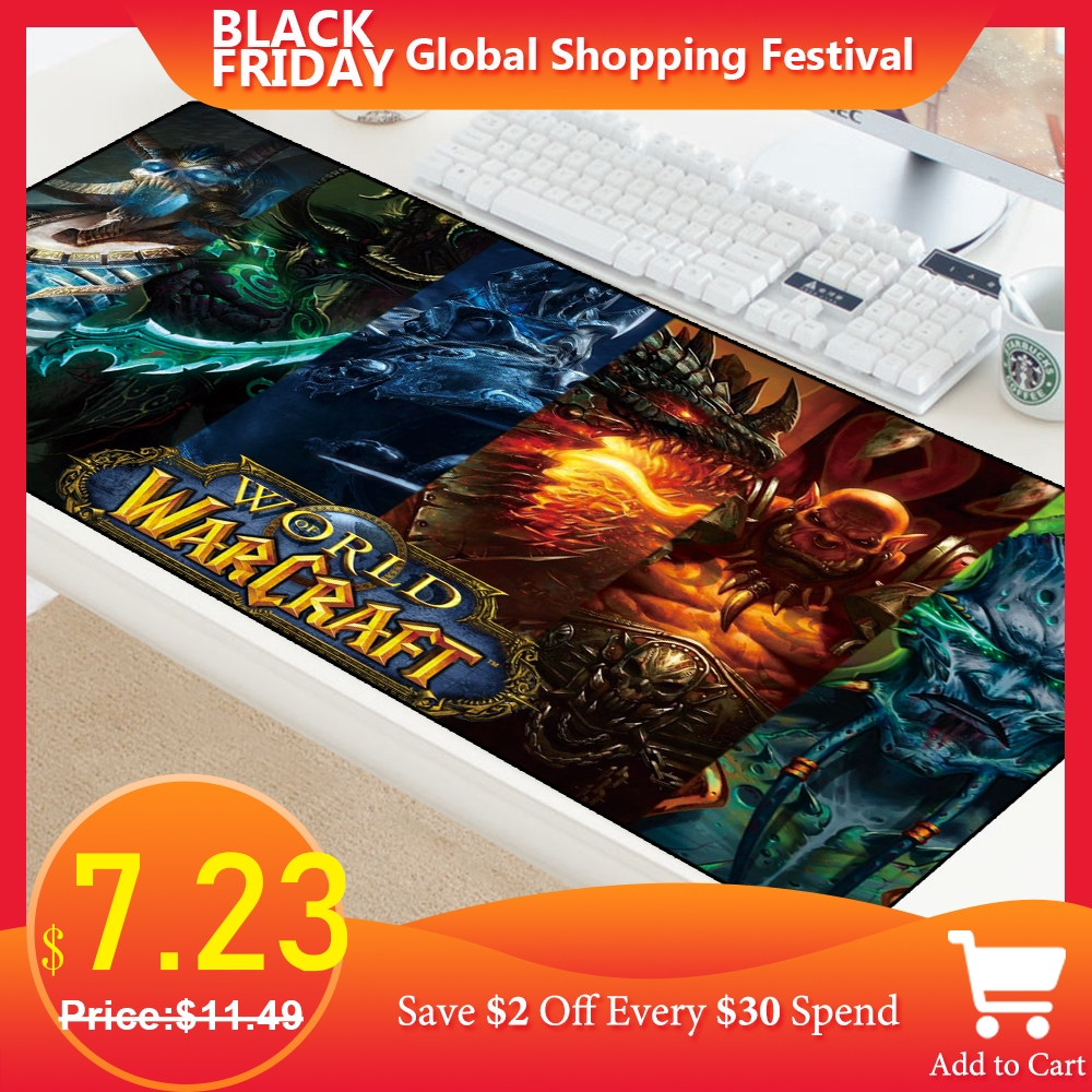 Large Gaming Mousepad Mat For World Of Warcraft Mouse Pad Dragon Gamer Computer PC Desk Pad For Laptop Locking Edge Big Padmouse