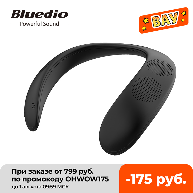 Bluedio HS אלחוטי רמקול טור צוואר רכוב Bluetooth-תואם נייד בס bluetooth 5.0 FM רדיו תמיכה SD-כרטיס חריץ