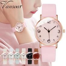 Женские часы, женские наручные часы vansvar, женские повседневные кварцевые часы с кожаным ремешком, аналоговые наручные часы