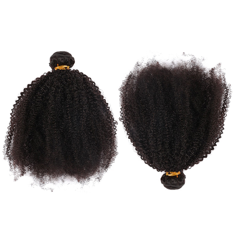 "Image 3 - Mongolian Afro Kinky Curly Hair Weave 4B 4C Natural Black Raw Remy Human Hair Bundles Extension 3 Hair Products Venvee 10 26""-in Hair Weaves from Hair Extensions & Wigs"