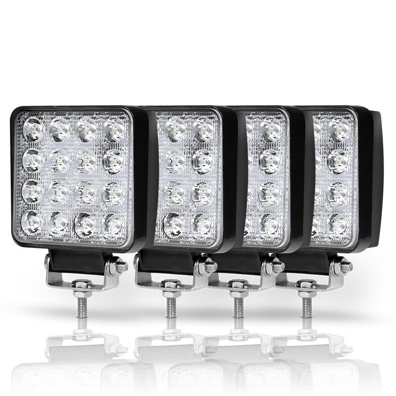 4PCS Quad Row 4 Inch 48W Led Work Light Bar Spot Flood Beam Offroad 4x4 ATV Truck Tractor Motorcycle Fog Light 12V 24V Work Lamp