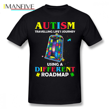 Autism T Shirt Traveling Life S Journey Using A Different Roadmap T-Shirt Short Sleeve Fashion Tee Tshirt