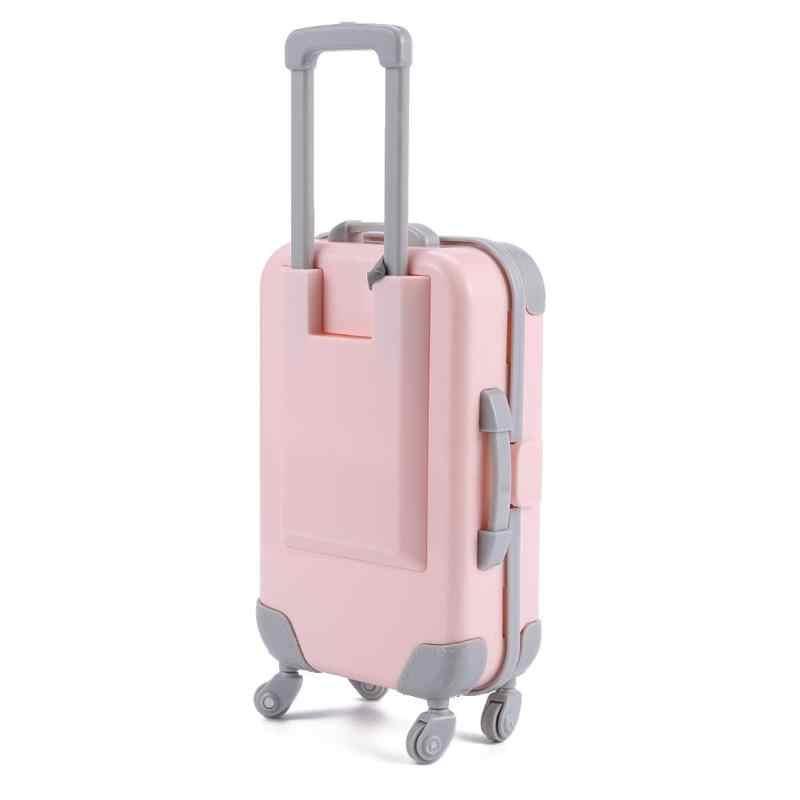 Rose 3D voyage Train valise bagages jouer maison jouet pour poupée accessoires meubles en plastique enfants jouets