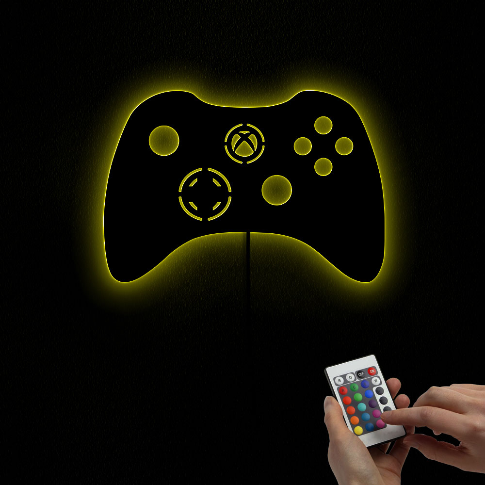 Joystick Games Video Color Changing LED Lighted Playstation Controller Mirror Lights Arcade Gamepad Controler Kid Nursery Lamp