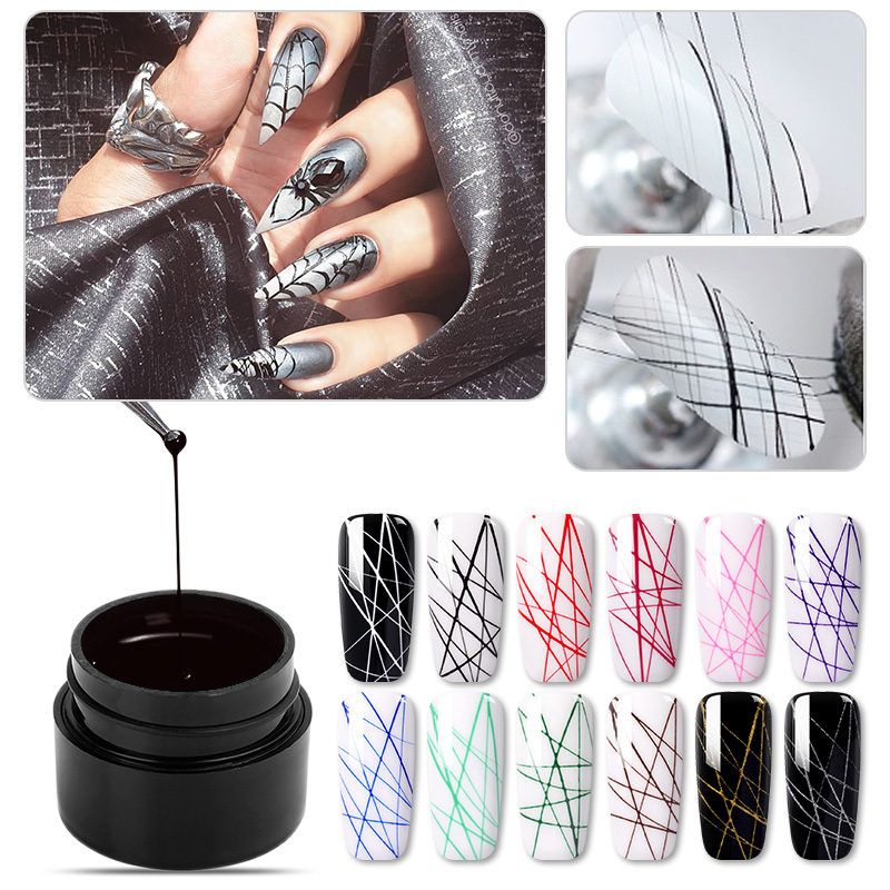 Spider UV Gel Nail Polish ElasticWire Drawing Gel Varnish Elasticity Point Line Soak Off Nail Art Gel Varnish