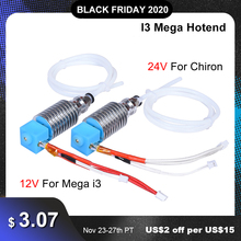 I3 Mega Hotend 12V 24V Bowden Extruder V5 J-head Hotend 3D Printer Parts For Anycubic I3 Mega Mega-S Upgrade Parts vs V6 Hotend