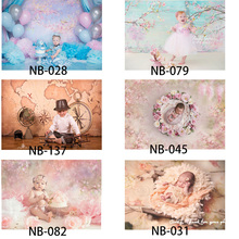 Newborn Backdrop for Photography Baby Shower Birthday Party Flower Photo Background for Children Portrait Backdrop фотофон kate shabby suitcase newborn photography props national flag baby shower backdrop cotton washable photo backdrop
