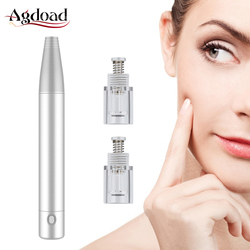 Dr caneta dermo caneta máquina mts derma caneta recarregável microagulhamento nano microneedles cabeça profissional equipamento da beleza