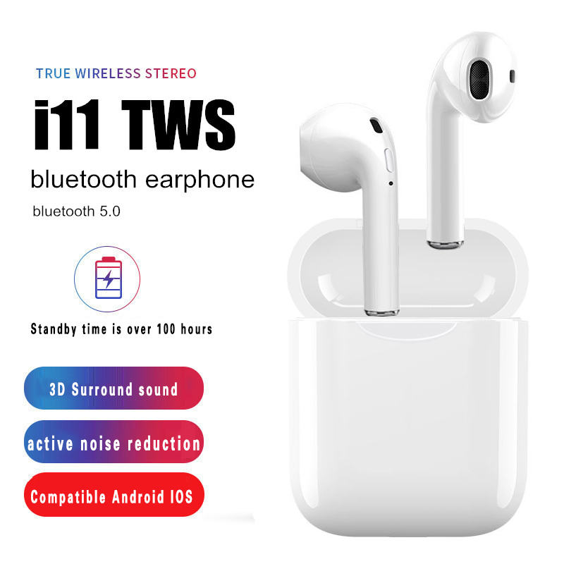 i11 tws Wireless Earphone Bluetooth 5.0 Stereo 3D Headphone <font><b>i7s</b></font> TWS Mini Earbuds Headset for Pop ups iPhone Xiaomi Huawei LG image