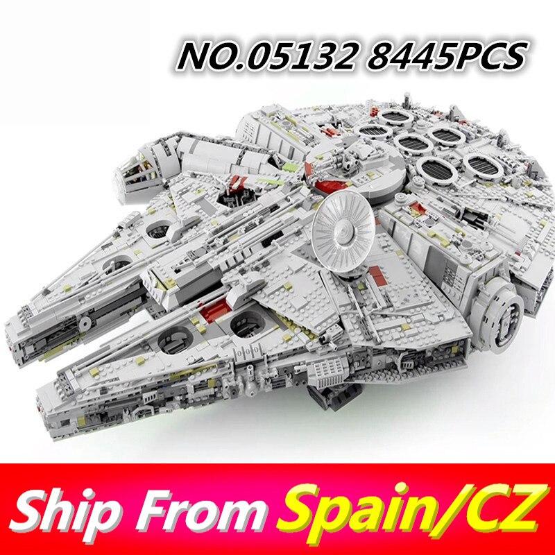 Lepinblocks 05132 05007 05063 05027 Star Wars Bausteine Millennium Kraft Weckt Falcon kompatibel 75105 75192 Kinder Spielzeug