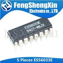 5 pces es56033e dip16 es56033 dip-16 dip eco/som surround que processa a reverberação digital ic