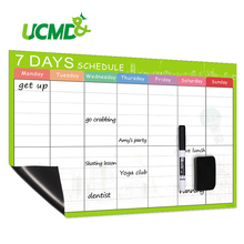 Купить с кэшбэком Magnetic 7 days Schedule for Refrigerator Magnet sticker Weekly Plan Whiteboard Family Office Writing Memo To Do List Kids Gifts