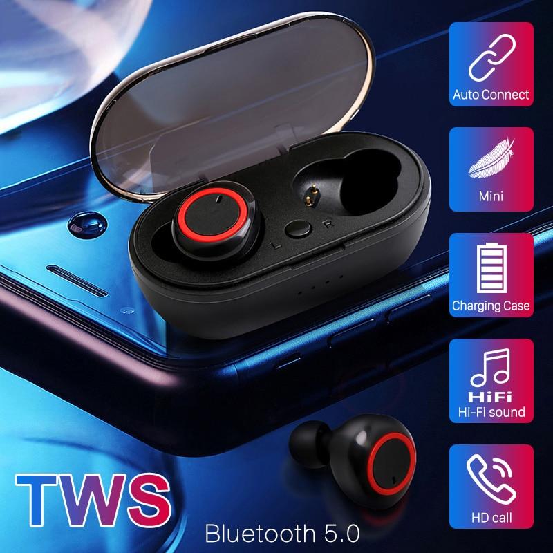 Беспроводные Bluetooth наушники A2 TWS, Hi-Fi стерео спортивные наушники, водонепроницаемая гарнитура, геймерские наушники с кнопкой управления для ...