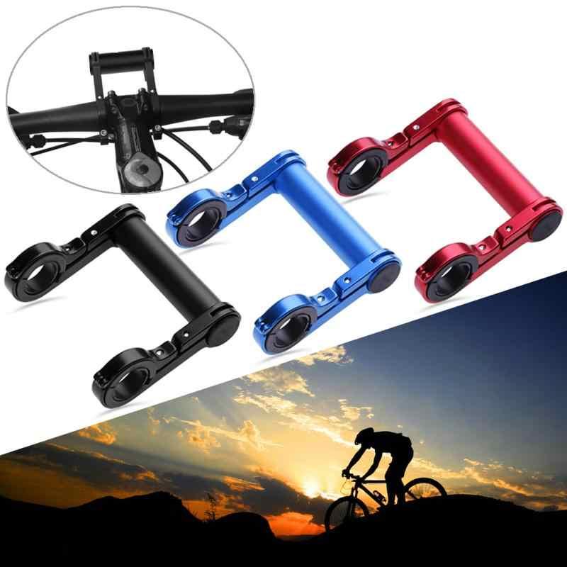 MrY 10CM bisiklet gidon bisiklet çift braket el feneri tutucu karbon tüp genişletici montaj braketi tutucu raf
