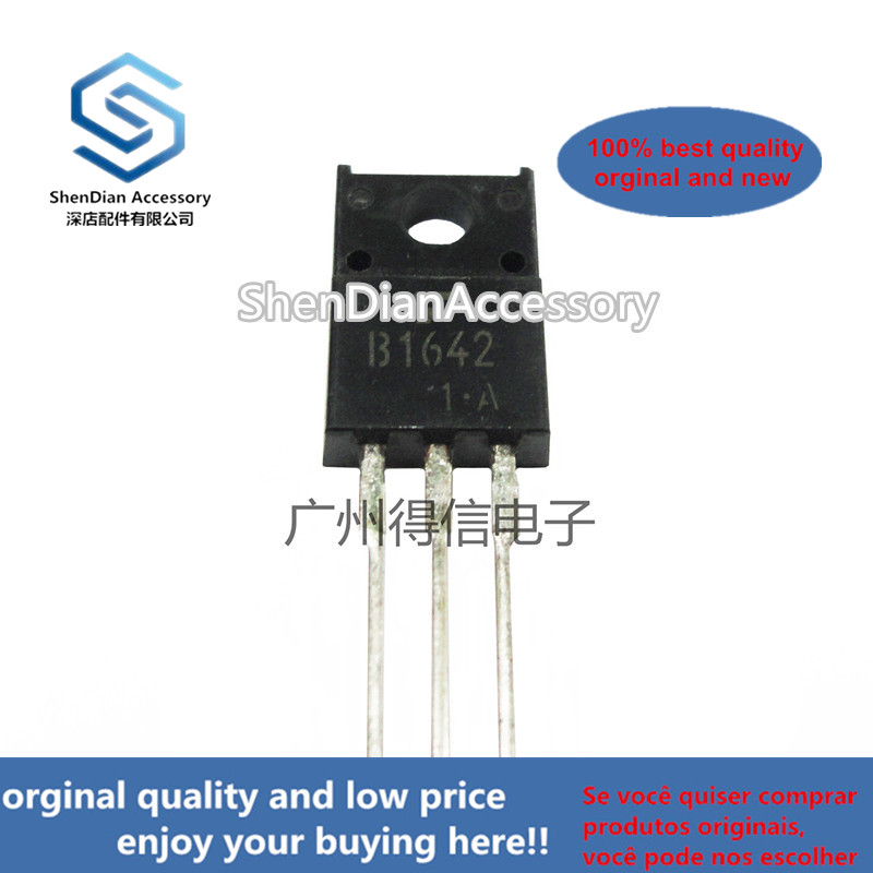 10pcs 100% Orginal New 2SB1642 B1642 TO-220F TRANSISTOR (AUDIO FREQUENCY POWER AMPLIFIER APPLICATIONS) Real Photo