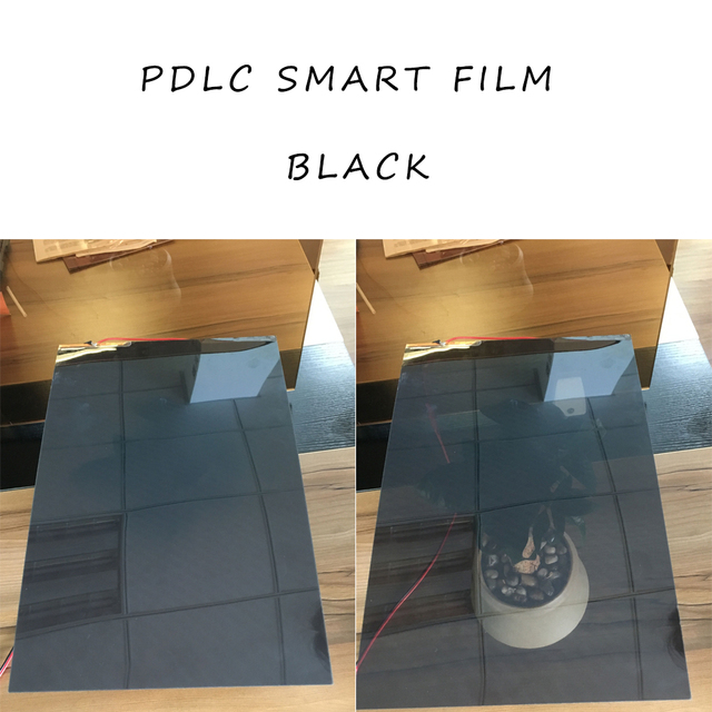 Switchable Electric White/Black/ Gray opaque Adhesive PDLC smart Film Window Door Test Samples for rear projection screen 2