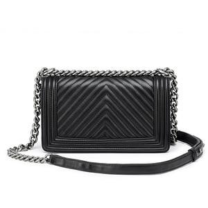 Image 2 - Klassieke Diamant Rooster Vrouwen Keten Tas Merk Luxe Lederen Schoudertas Schapenleer Lady Crossbody Messenger Bag