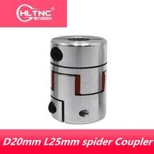3D Printer accessories 4pcs /lot CNC jaw spider Coupler 5mm*6.35mm shaft Coupling 5mm to 6mm D20mm L25mm3/ 4/ 5/6/6.35/8/10mm
