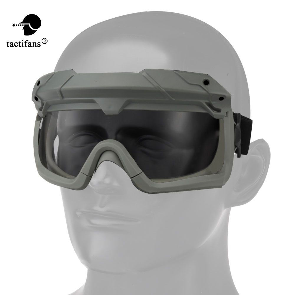 Airsoft Paintball Tactical Goggle Safety Clear Glasses Eyes Protection Shooting CS Game Anti-fog Hiking Eyewears For Helmet