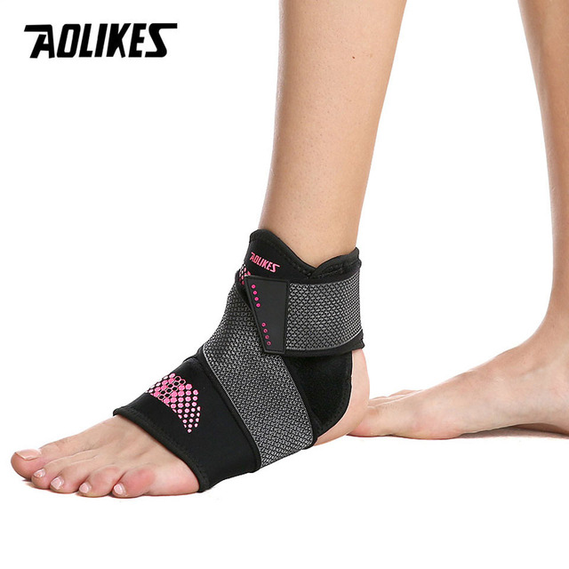 AOLIKES Adjustable Elastic Ankle Sleeve Elastic Ankle Brace Guard Foot Support sports ankle support weights ankle brace support