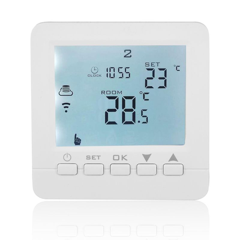 16A 90-240VAC WiFi Smart Electric Heating Thermostat Room Temperature Controller For Alexa Echo Google Home IFTTT