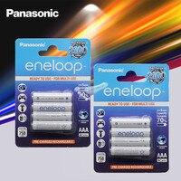 8pcs Panasonic Eneloop Original Batterie Pro 1,2 V AaA 800mAh NI-MH Kamera Taschenlampe Spielzeug Pre-Aufgeladenen batterien