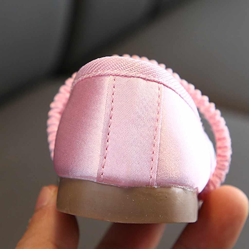 Niños zapatos de niño pequeño niños bebés niñas bordado Floral flor princesa individual zapatos Sapato Infantil niños zapatillas