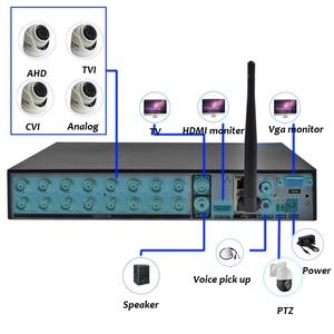 Image 4 - 16CH 1080N DVR NVR H.265 + Поддержка Wi Fi 3G PPPOE 16 канальный видео Регистраторы гибридный 6 в 1 для TVI CVI AHD 1080P 5MP IP Камера