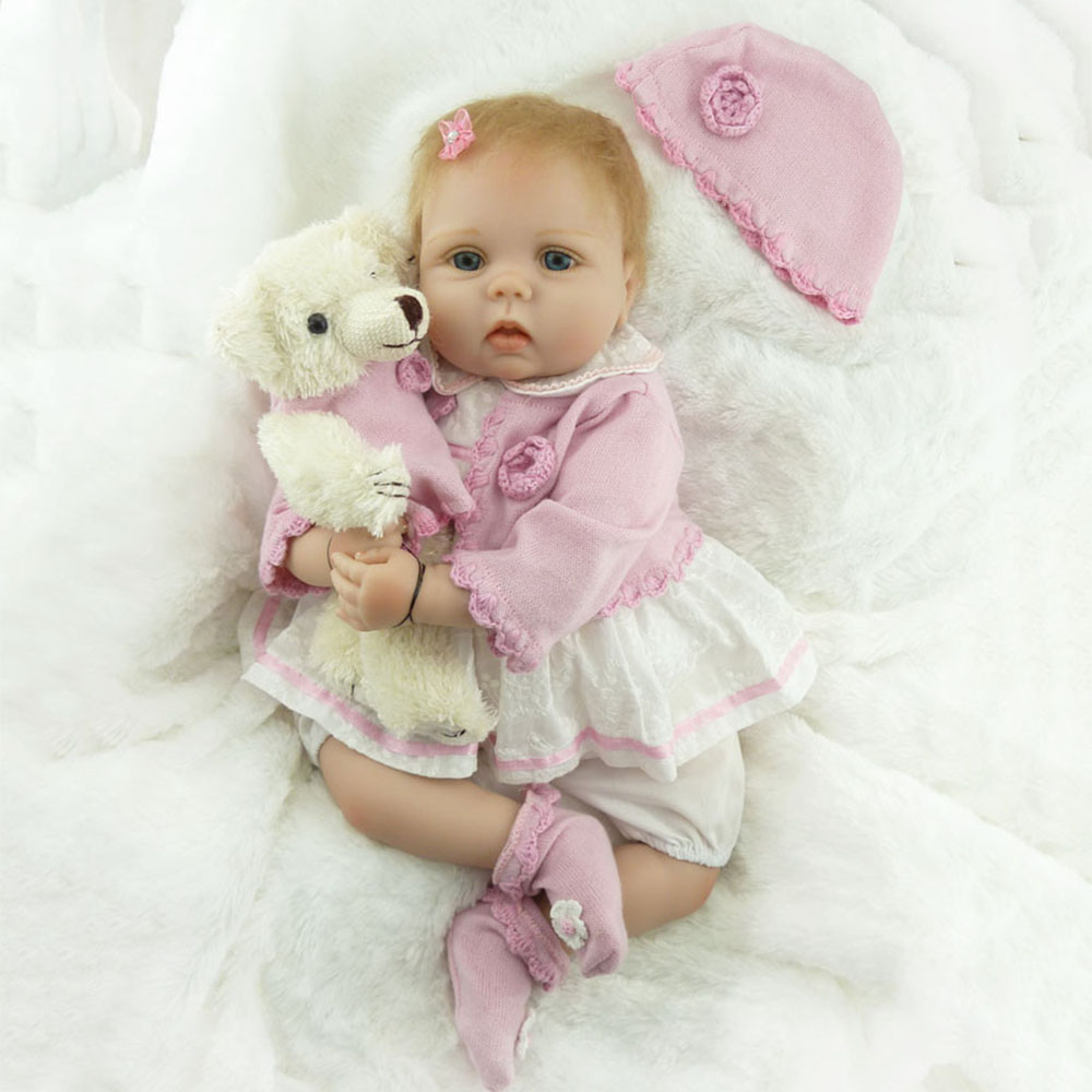 reborn baby doll NPK Handmade 55cm Soft Babies 22 inch Real Silicone Reborn Baby  doll clothes for girls Gift